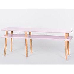 Růžový konferenční stolek Ragaba Mugo, 139cm