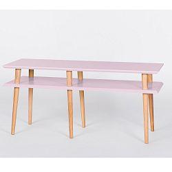 Růžový konferenční stolek Ragaba Mugo,délka119cm