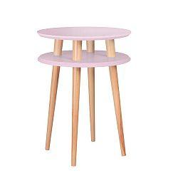 Růžový konferenční stolek Ragaba UFO,Ø45 cm