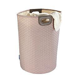 Růžový koš na prádlo Wenko Wabo, 75 l