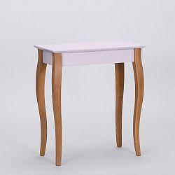 Růžový odkládací stolek Ragaba Console,délka65cm