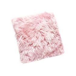 Růžový polštář z ovčí kožešiny Royal Dream Sheepskin,30x30cm