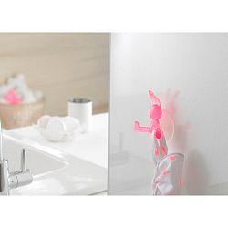 Růžový přísavný háček ve tvaru králíka Compactor