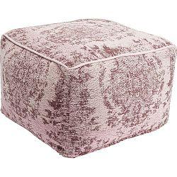 Růžový puf s ornamentem Kare Design Kelim