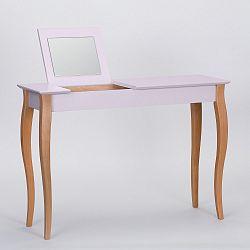 Růžový toaletní stolek se zrcadlem Ragaba Dressing Table,délka105cm