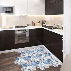 Sada 10 samolepek na podlahu Ambiance Floor Stickers Hexagons Alina, 40 x 90 cm