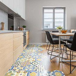 Sada 10 samolepek na podlahu Ambiance Floor Stickers Hexagons Fionna, 40 x 90 cm