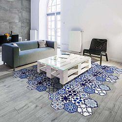 Sada 10 samolepek na podlahu Ambiance Floor Stickers Hexagons Jena, 40 x 90 cm