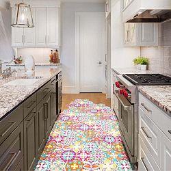 Sada 10 samolepek na podlahu Ambiance Floor Stickers Hexagons Lusiana, 40 x 90 cm