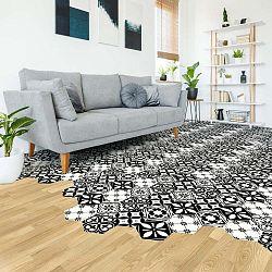 Sada 10 samolepek na podlahu Ambiance Floor Stickers Hexagons Manoela, 40 x 90 cm