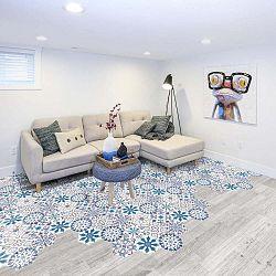 Sada 10 samolepek na podlahu Ambiance Floor Stickers Hexagons Tisila, 40 x 90 cm