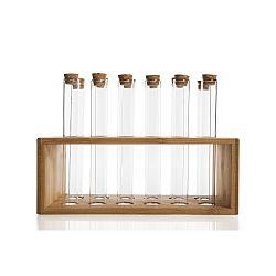 Sada 12 lahviček na koření v bambusovém stojanu Bambum Vanilla