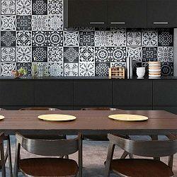 Sada 12 nástěnných samolepek Ambiance Wall Decals Tiles Gray Cement Rimini, 20 x 20 cm
