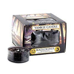 Sada 12 vonných svíček Yankee Candle Černý Kokos, doba hoření 4 - 6 hodin