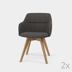 Sada 2 antracitově šedých jídelních židlí Tenzo Sofia