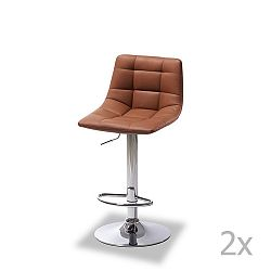 Sada 2 barových světle hnědých židlí Knuds Mario
