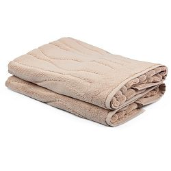 Sada 2 béžových ručníků Beverly Hills Polo Club Gartex, 50x75cm
