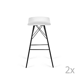 Sada 2 bílých barových židlí Tenzo Tori