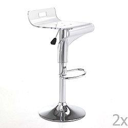 Sada 2 bílých barových židlí Tomasucci Ice