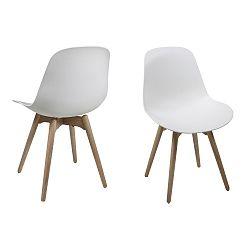 Sada 2 bílých jídelních židlí Actona Scramble Dining Set
