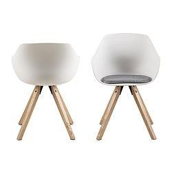 Sada 2 bílých jídelních židlí Actona Tina