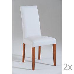 Sada 2 bílých jídelních židlí Castagnetti Tempi