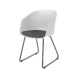 Sada 2bílých jídelních židlí Interstil Moon 40, černé nohy