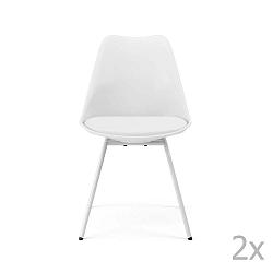 Sada 2 bílých jídelních židlí Tenzo Gina Triangle