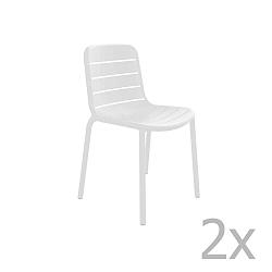 Sada 2 bílých zahradních židlí Resol Gina Garden