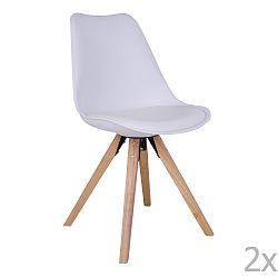 Sada 2 bílých židlí House Nordic Bergen