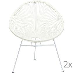 Sada 2 bílých židlí Kare Design Spaghetti