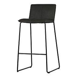 Sada 2 černých barových židlí WOOOD Evan