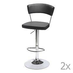 Sada 2 černých barových židliček Knuds Preben