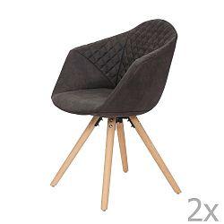 Sada 2 černých jídelních židlí 360 Living Luke