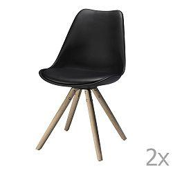 Sada 2 černých jídelních židlí Knuds Mille