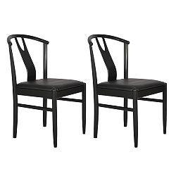 Sada 2 černých jídelních židlí RGE Hugo