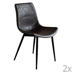 Sada 2 černých jídelních židlí RGE Madrid