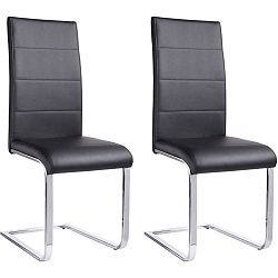Sada 2 černých  jídelních židlí Støraa Cara