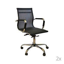 Sada 2 černých kancelářských kolečkových židlí Evergreen House Dally