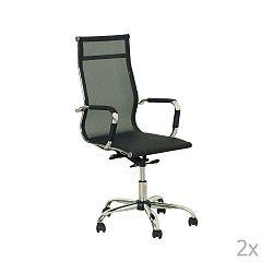 Sada 2 černých kancelářských židlí Evergreen House Jane