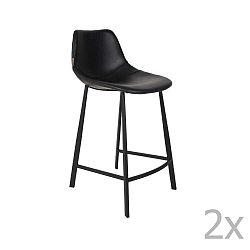 Sada 2 černých vysokých židlí Dutchbone Franky, výška 91 cm