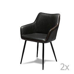 Sada 2 černých židlí Knuds Maria