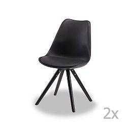 Sada 2 černých židlí Knuds Mille