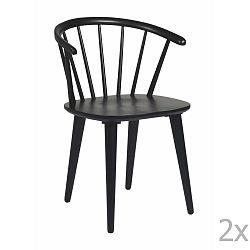 Sada 2 černých židlí Rowico Carmen