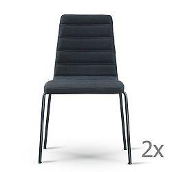 Sada 2 černých židlí s černýma nohama Garageeight
