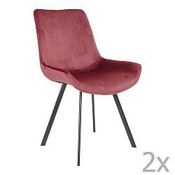 Sada 2 červených jídelních židlí House Nordic Drammen