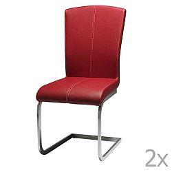 Sada 2 červených jídelních židlí Knuds Tolouse