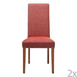 Sada 2 červených jídelních židlí s podnožím z bukového dřeva Kare Design Rhytm
