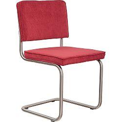 Sada 2 červených židlí Zuiver Ridge Brushed Rib