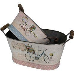 Sada 2 dekoračních nádob Antic Line Vélo